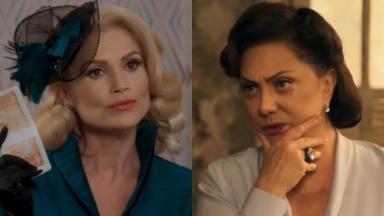 Flávia Alessandra e Eliane Giardini como Sandra e Anastácia em Êta Mundo Bom