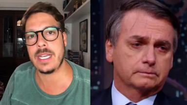Fábio Porchat (à esquerda) e Jair Bolsonaro (à direita) em foto montagem