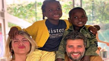 Bruno Gagliasso, Giovanna Ewbank e os filhos: Titi e Bless