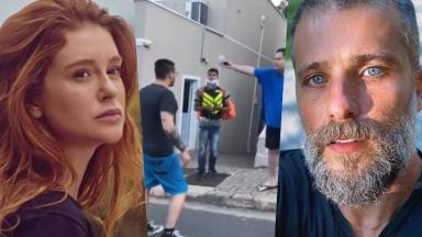 Os atores Marina Ruy Barbosa e Bruno Gagliasso