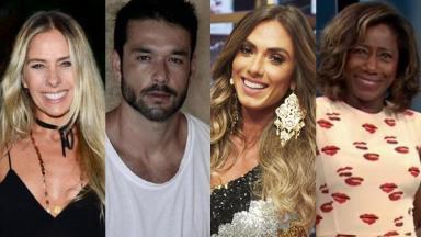 Adriane Galisteu, Sérgio Marone, Nicole Bahls e Glória Maria