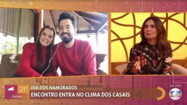 Fátima Bernardes entrevista Fernando e Maiara no Encontro