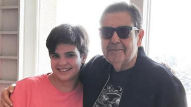 Faustão e o filho Rodrigo