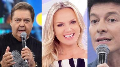 Faustão, Eliana e Rodrigo Faro vão disputar audiência no próximo domingo (04)