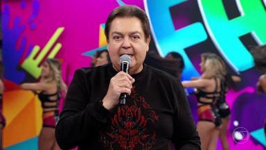 Fausto Silva no Domingão do Faustão
