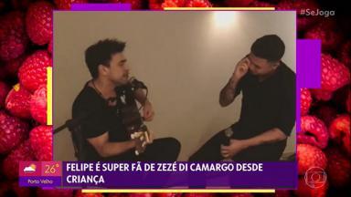 Zezé Di Camargo cantando com Felipe Araújo