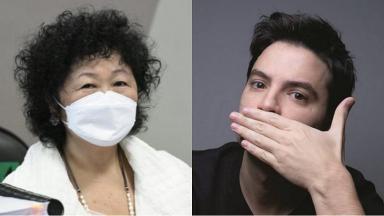 Médica Nise Yamaguchi (à esquerda) foi criticada por Felipe Neto (à direita)
