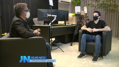 Felipe Neto é entrevistado pelo Jornal Nacional