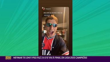 Felipe Prior reaparece na Globo em reportagem sobre Neymar