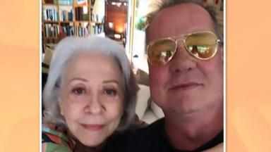 Fernanda Montenegro e Luiz Fernando Guimarães posam para selfie