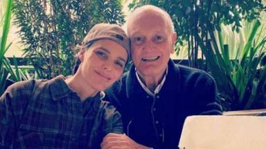 Fernanda Lima e o pai