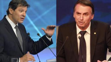 Fernando Haddad e Jair Bolsonaro
