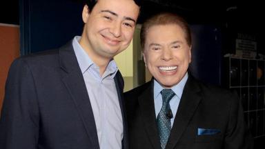 Fernando Morgado e Silvio Santos
