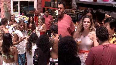 Participantes do BBB20 receberam festa surpresa e a visita de Ingrid Guimarães