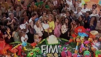 Cena final de Laços de Família, no aniversário de Vitória