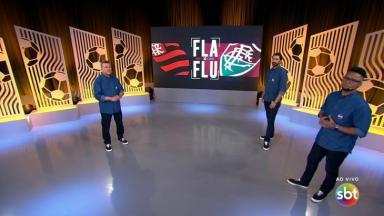 Téo Jose, Athirson e Carlos Alberto na transmissão da final do Cariocão