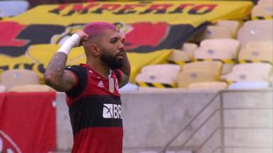 Gabigol comemorando o gol do Flamengo