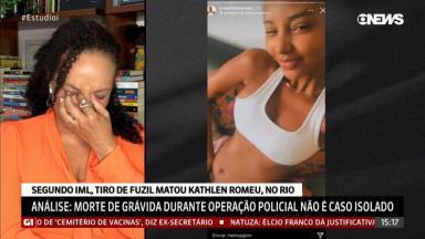 Flávia Oliveira chorando ao vivo
