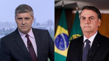 Flávio Fachel e Jair Bolsonaro em foto montagem