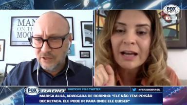 Flávio Gomes e Marisa Alija, advogada de Robinho, discutem no Fox Sports Rádio