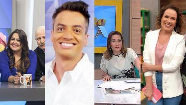 Leo Dias, Fabíola Reipert, Sônia Abrão e Regina Volpato