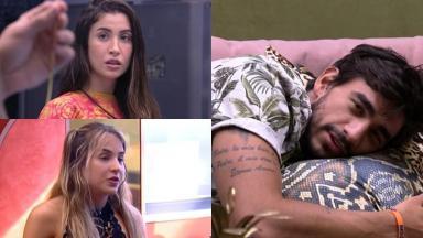 Guilherme, Gabi Martins e Bianca Andrade durante o BBB20
