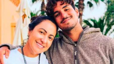 Gabriel Medina e a mãe