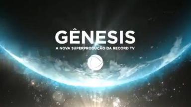 Logo de Gênesis, novela da Record