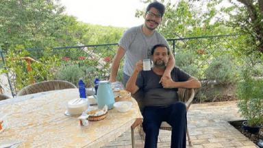 Geraldo Luís ao lado do seu filho