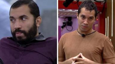 Gilberto Nogueira do BBB21 antes e depois de tirar a barba