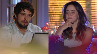 Rafael Cardoso e Fernanda Vasconcellos em cena da novela A Vida da Gente, em reprise na Globo