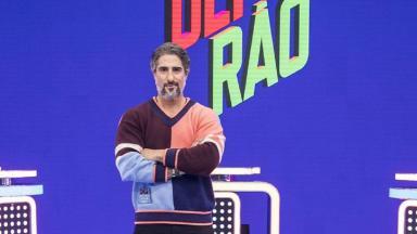 Marcos Mion no palco do Caldeirão