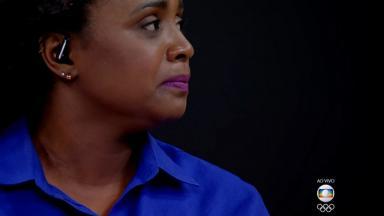 Daiane dos Santos chorando na Globo