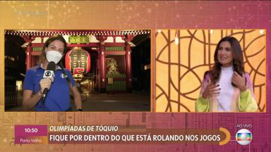 Fátima Bernardes e Bárbara Coelho no Encontro