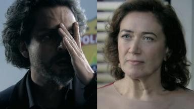 Alexandre Nero e Lilia Cabral em cena da novela Império, em reprise na Globo