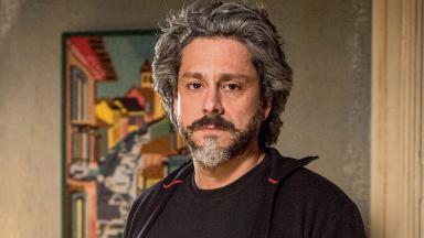 Alexandre Nero como o Comendador José Alfredo na novela Império, em reprise na Globo
