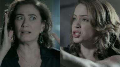 Lilia Cabral e Leandra Leal como Maria Marta e Cristina em cena da novela Império, em reprise na Globo