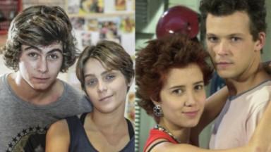 Rafa Vitti, Isabella Santoni, Marjorie Estiano e Guilherme Berenguer quando estavam em Malhação