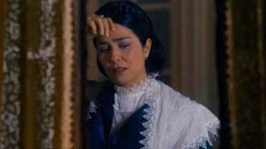 Cena de Nos Tempos do Imperador com Thereza Cristina chorando