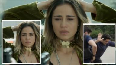 Sandra Helena, personagem de Nanda Costa em Pega Pega em montagem do NaTelinhae