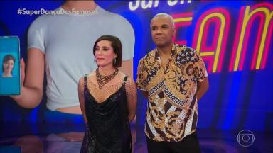 Christiane Torloni com seu parceiro de dança na Superdança dos Famosos