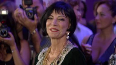 Marília Pera durante as gravações