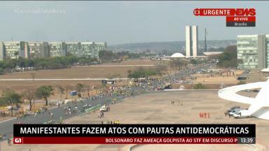 Manifestação pró-Bolsonaro em Brasília