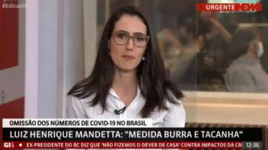 Raquel Novaes no ar na GloboNews