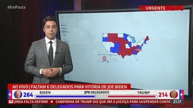 O jornalista Tiago Eltz informa sobre a apuração da eleição presidencial nos EUA