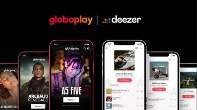 Divulgação da parceria do Globoplay e Deezer