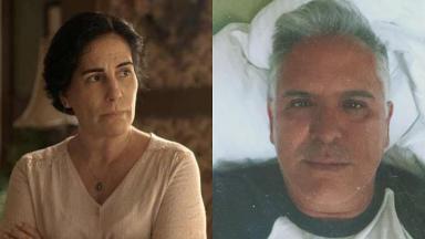 Glória Pires (à esquerda) e Orlando Morais (à direita) em foto montagem