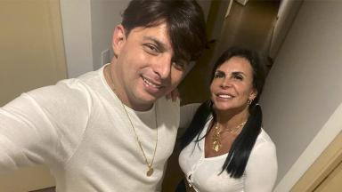 Gretchen e o noivo Esdras de Souza