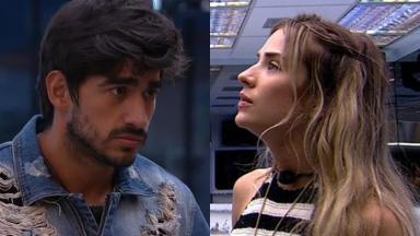 Guilherme e Gabi durante o reality show BBB20