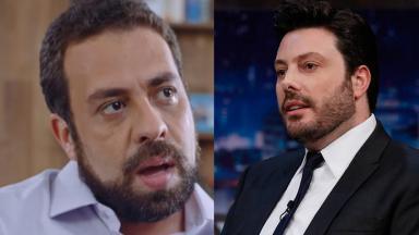 Danilo Gentili e Guilherme Boulos em foto montagem